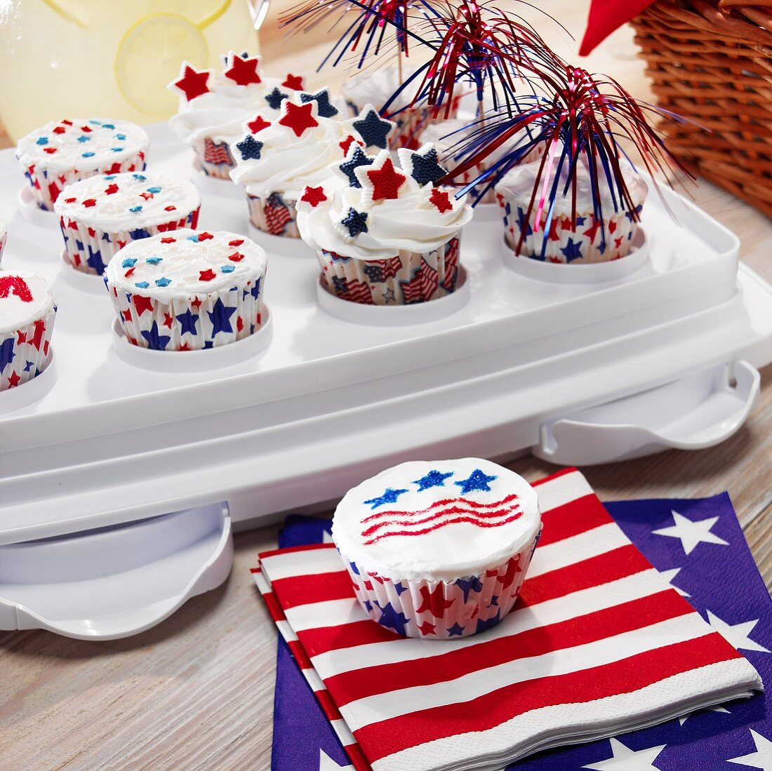 Festive Fourth of July Cupcakes