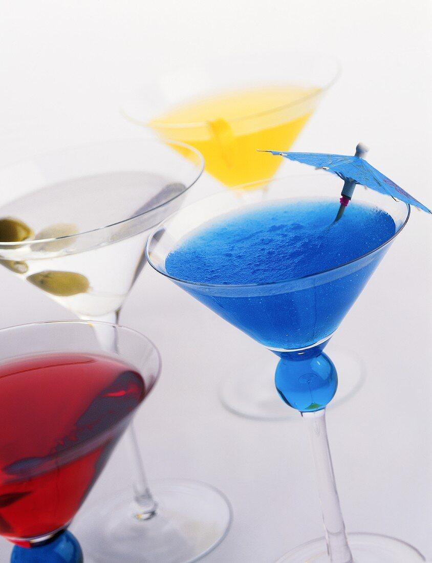 Four Assorted Martinis
