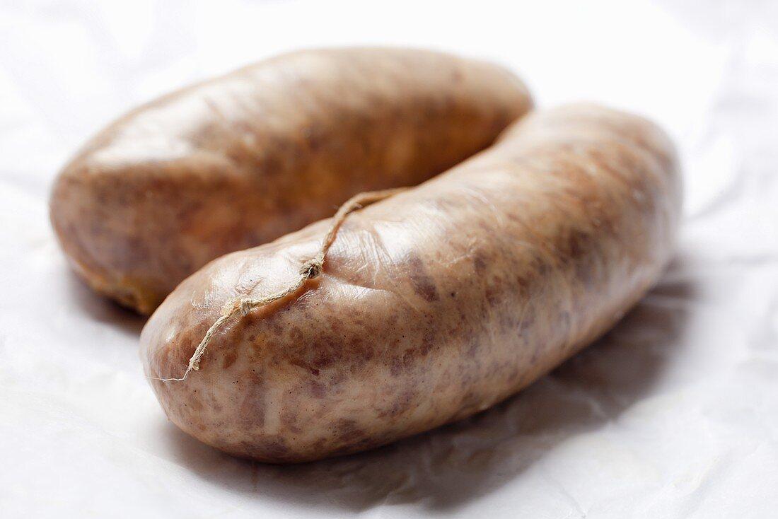 Cotechino (pork sausages, Italy)