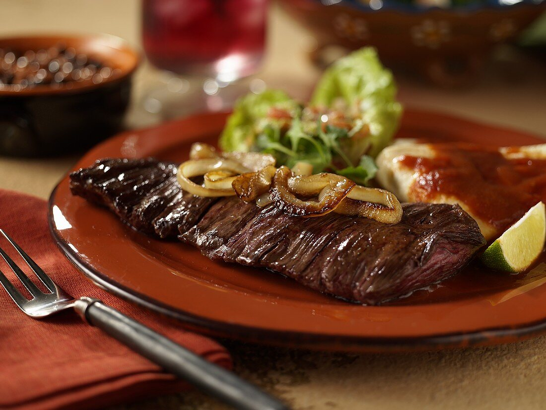 Carne Asada; Grilled Steak with Onions