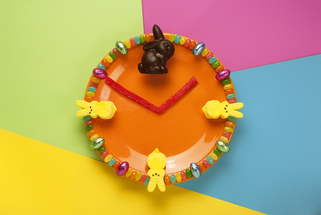 Time To Eat Easter Candy Plate
