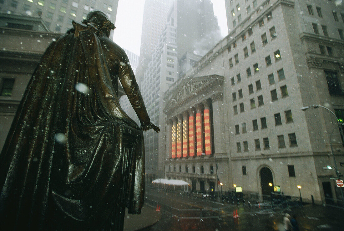 The New York Stock Exchange. Wall Street. New York City. USA