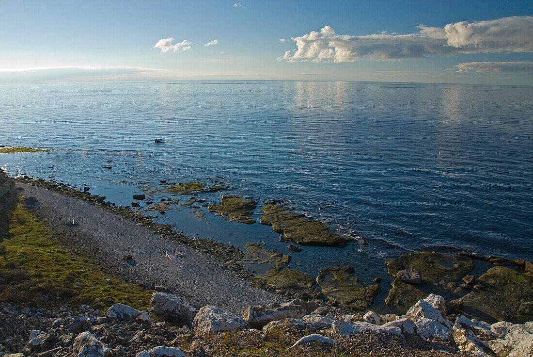 Coastal landscape south of Burgswik, southcoast, Gotland, Sweden, Scandinavia, Europe