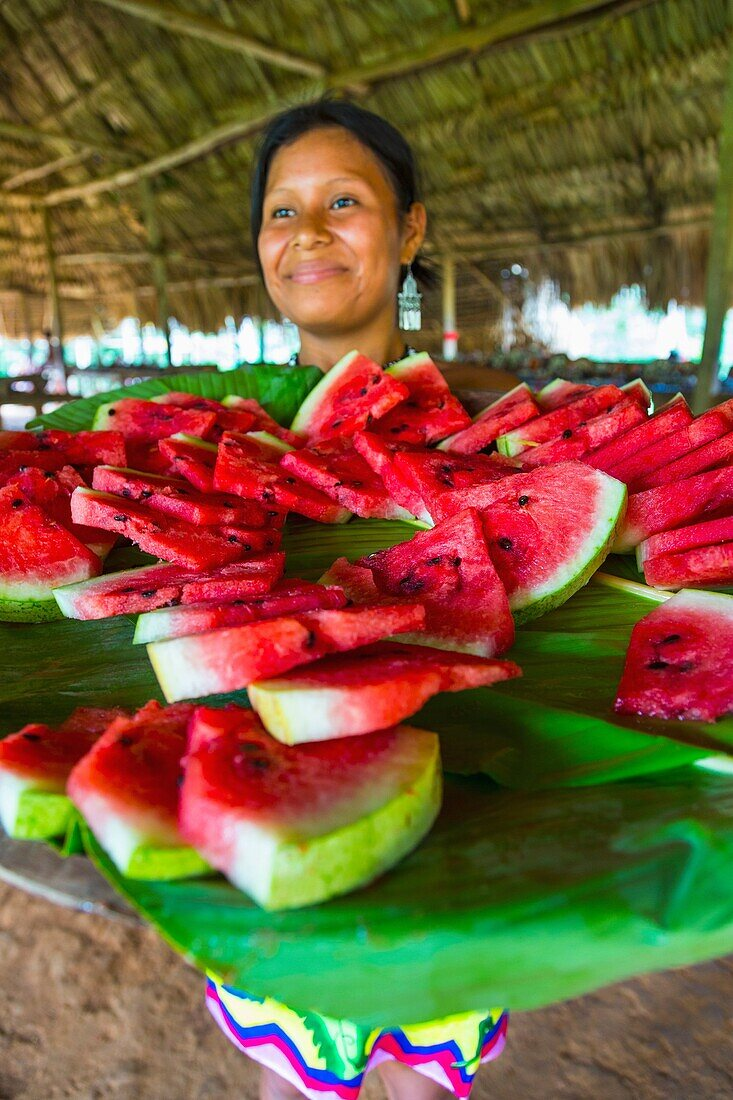 Embera Ethnic Group, Community Chagres River Chagres National Park, Colon Province, Panama, Central America