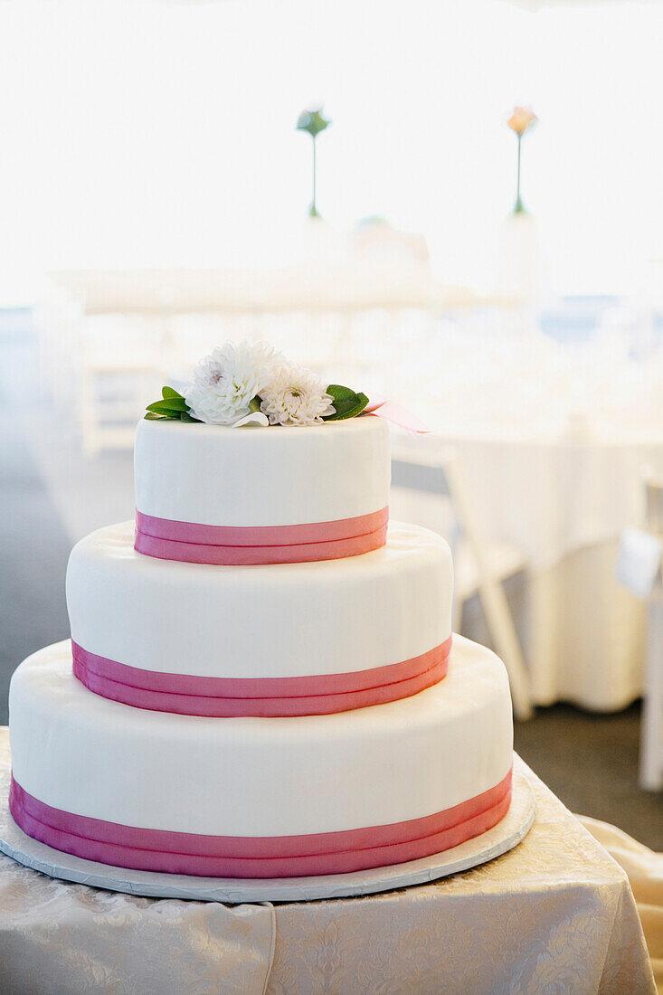 Close up of wedding cake, Seattle, WA