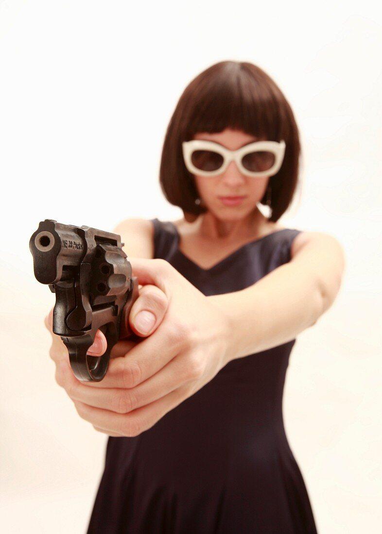 Women with a gun