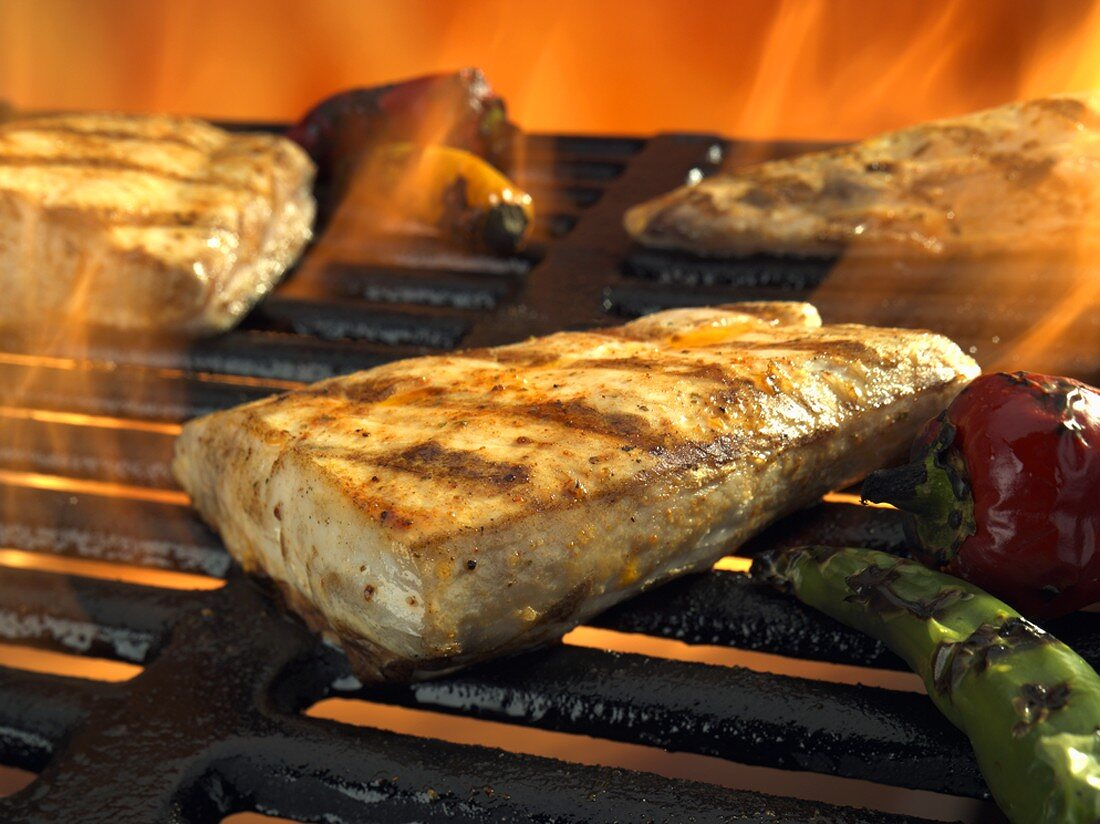 Swordfish on the Grill, Flames