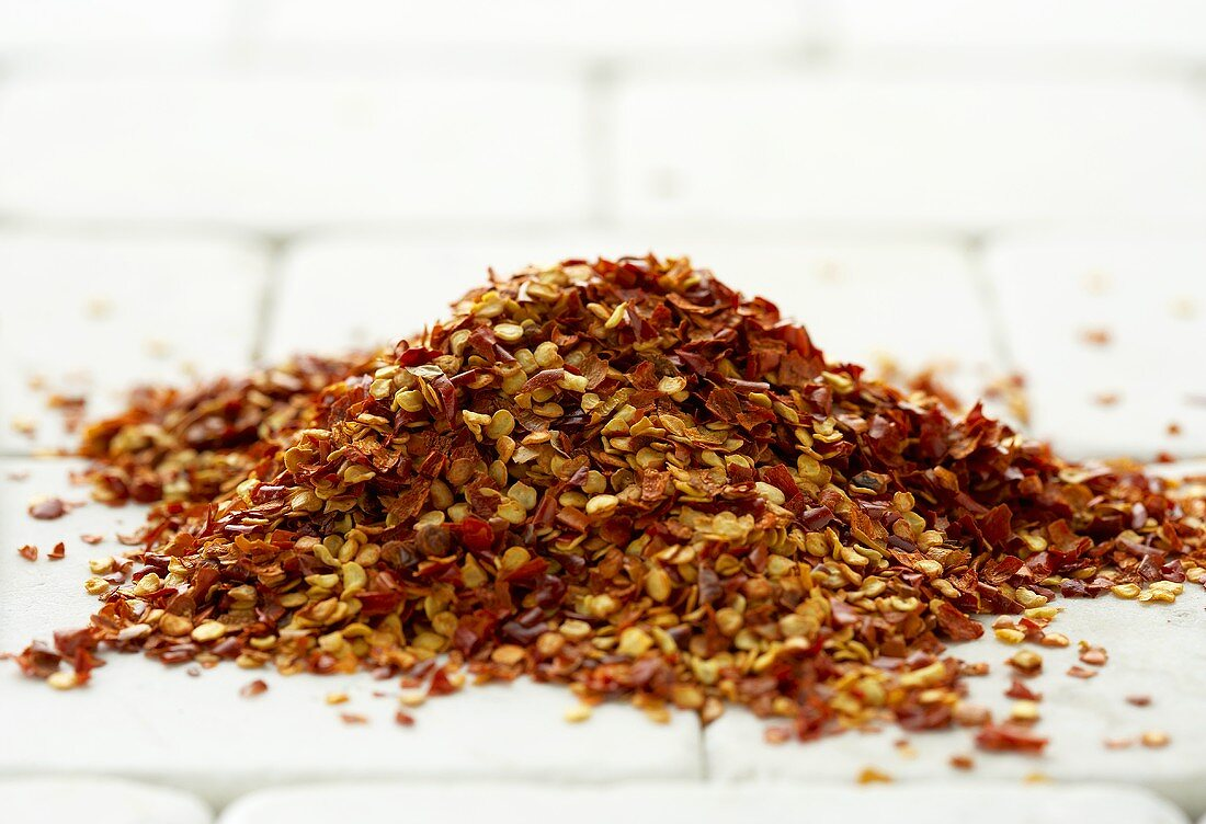 Pile of Chili Pepper Flakes