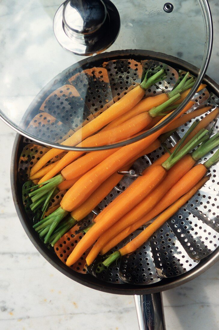 Carrots in a Steamer