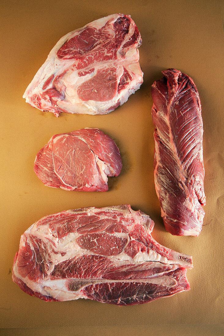 Pin-Bone Sirloin, Hanger Steak, First Cut Chuck Blade, Sirloin