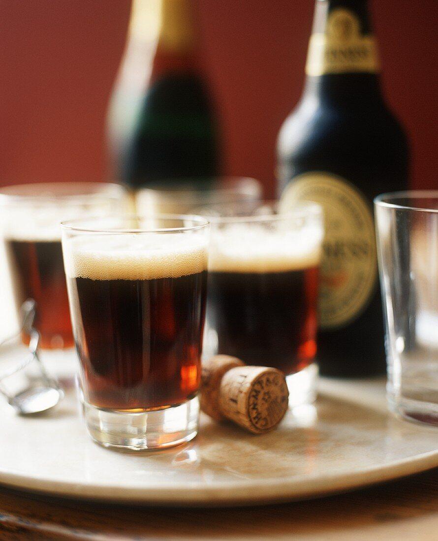 Guinness in Glasses; Guinness Bottles