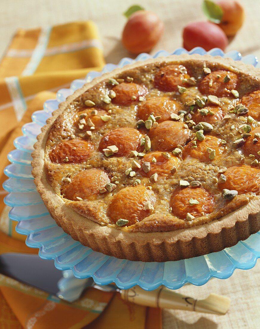 A Peach and Pistachio Tart