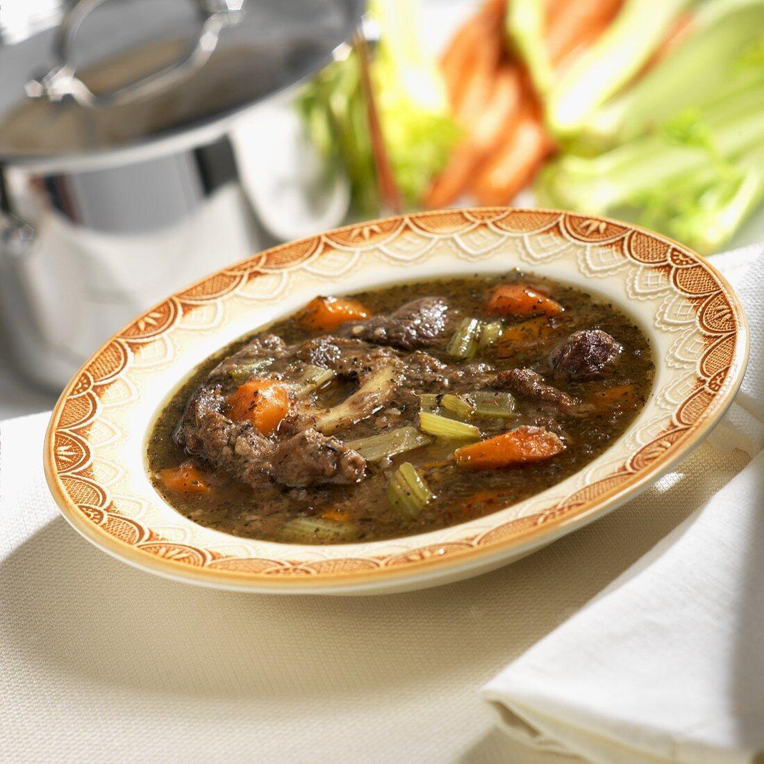 Bowl of Braised Beef Shank Stew