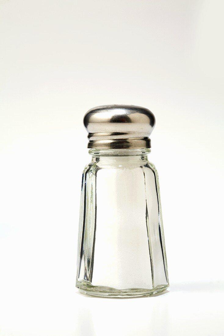 Salt in a Salt Shaker; White Background