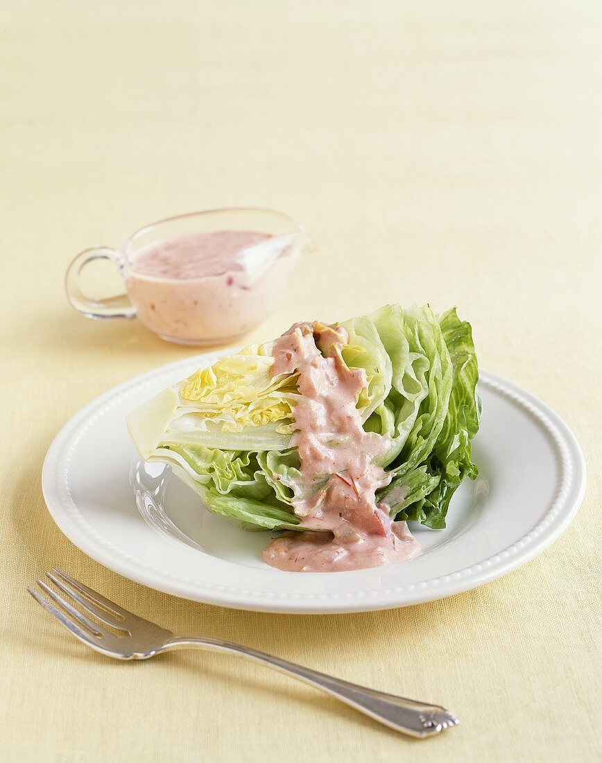 Iceberg Lettuce Wedge with Russian Dressing