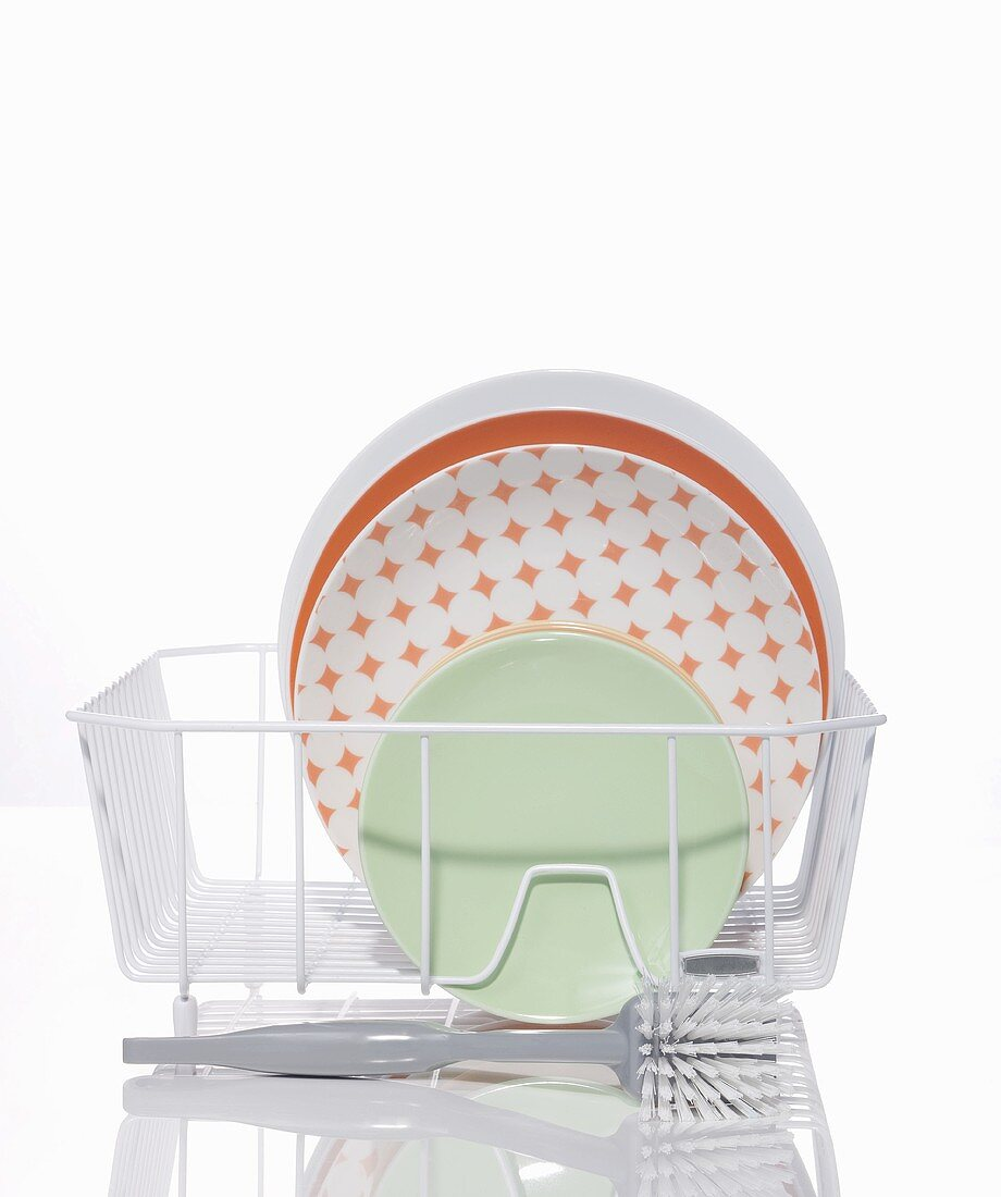 Dishes in a Drying Rack