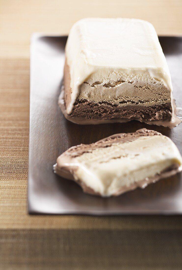 Layered Ice Cream Loaf Cake