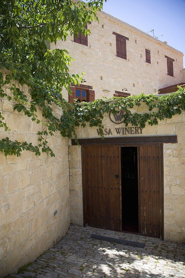 Vasa Winery and Vineyard Entrance; Cyprus