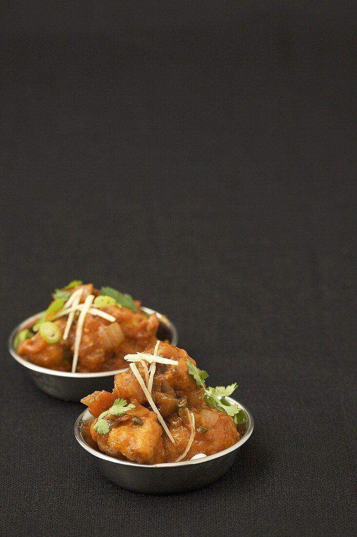 Gobi Manchurian; Sweet and Spicy Fried Cauliflower