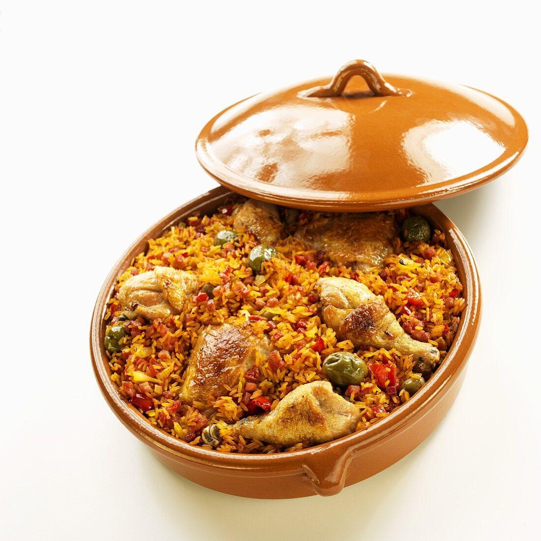 Arroz con Pollo; Latin Rice with Chicken
