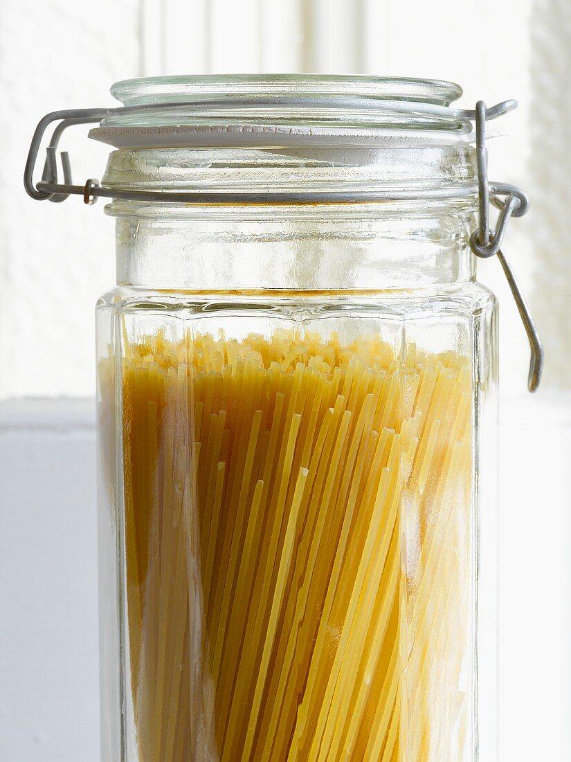 Spaghetti in a Glass Jar