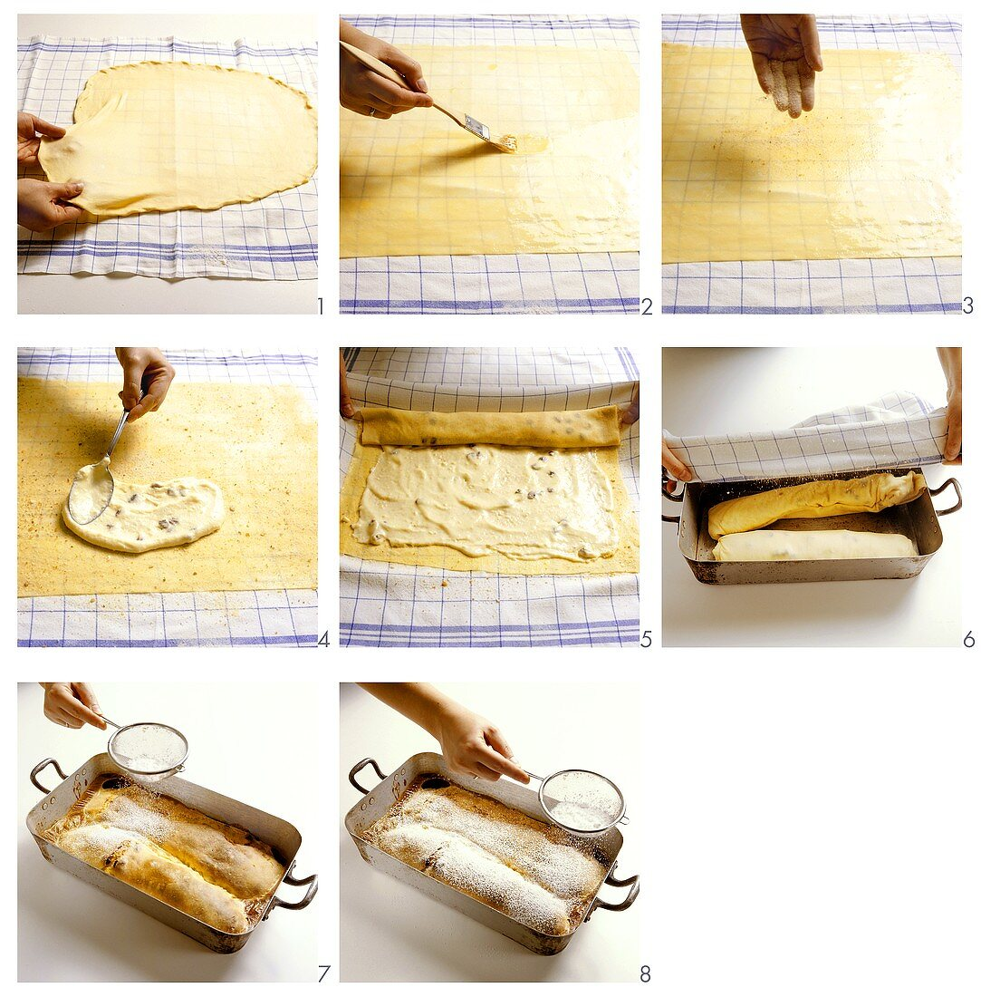 Baking a curd cheese strudel - part 2