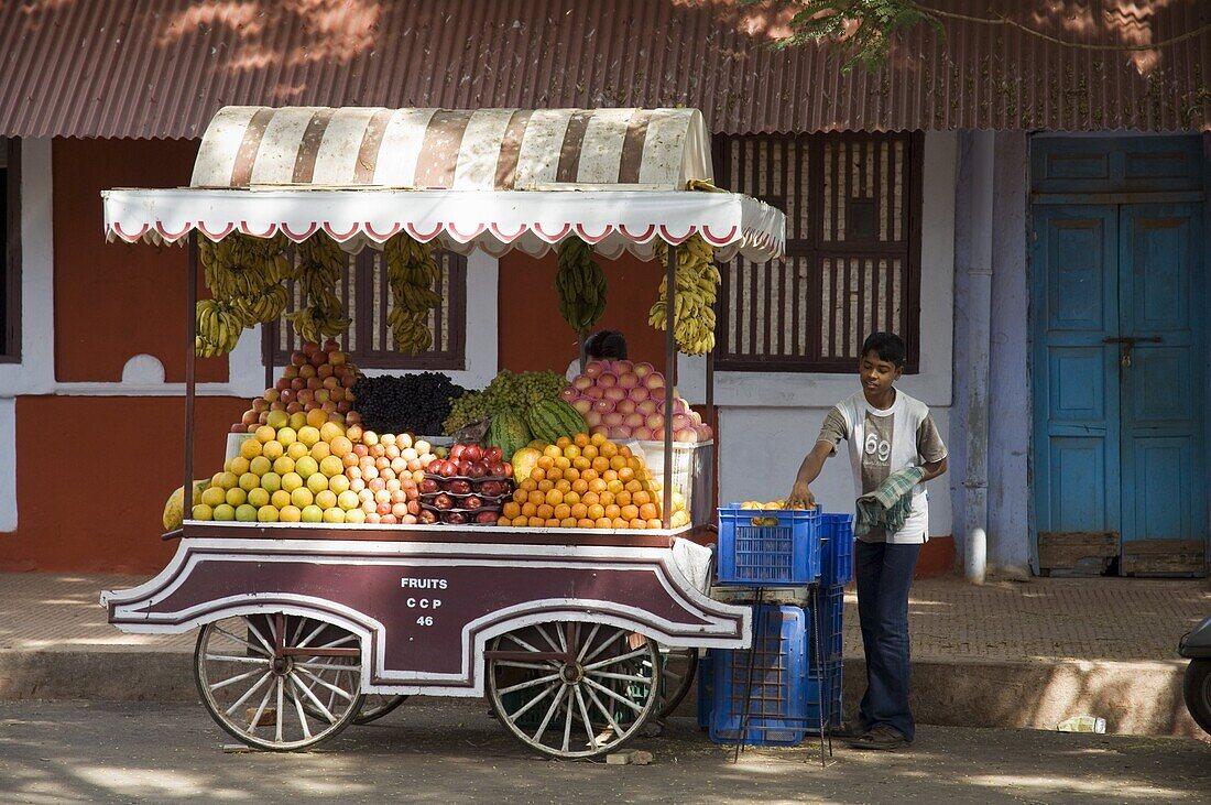 In the Latin quarter of Panaji formerly known as Panjim, Goa, India