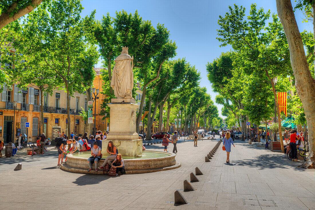 Roi René, Cours Mirabeau, Aix-en-Provence, Provence-Alpes