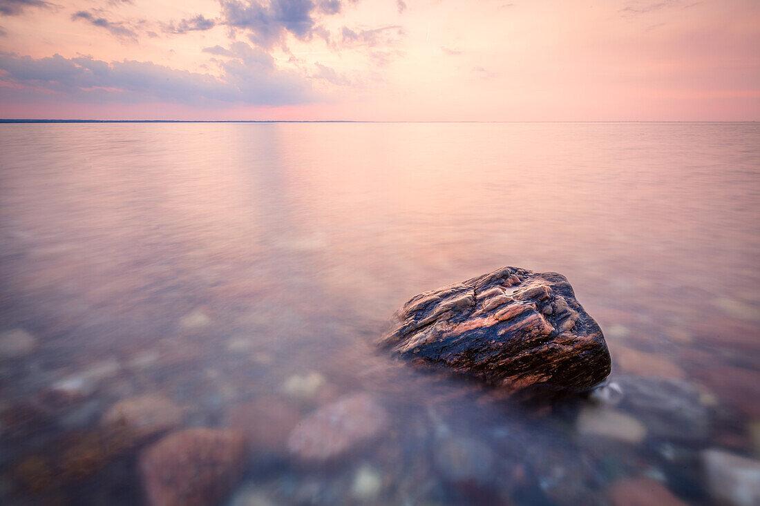 stone, Baltic Sea, Brooker Wald, Mecklenburg Vorpommern, Groß Schwansee, Germany
