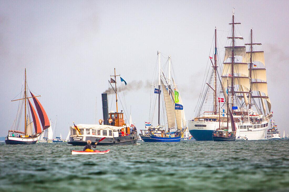sailingship, sailingships, Windjammerparade, Kiel Week, Baltic Sea, Kiel, Kiel fjord, Schleswig Holstein, Germany