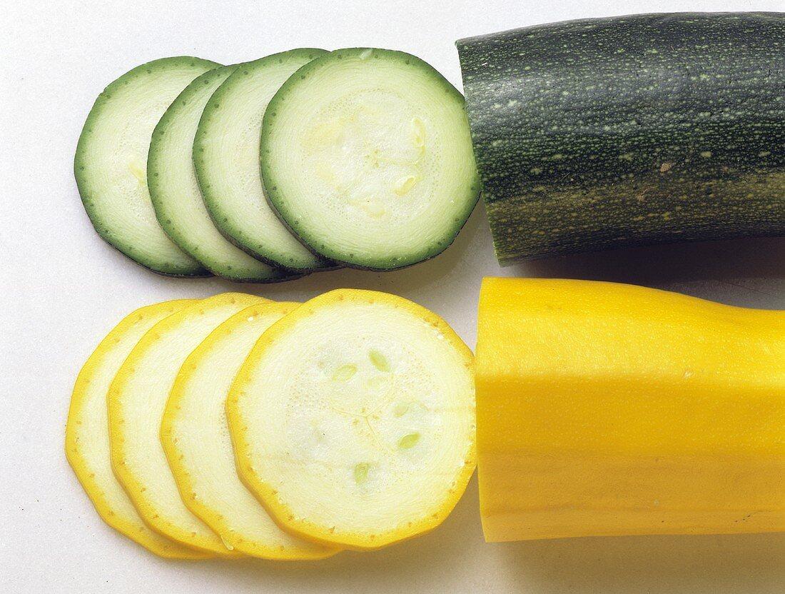 Cut Green & Yellow Zucchini/Squash