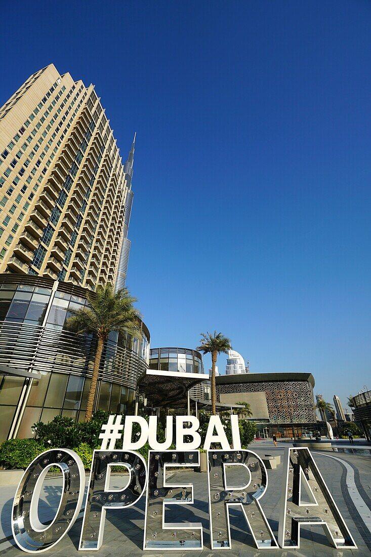 Dubai Opera, Burj Khalifa, Downtown, Dubai, UAE, United Arab Emirates