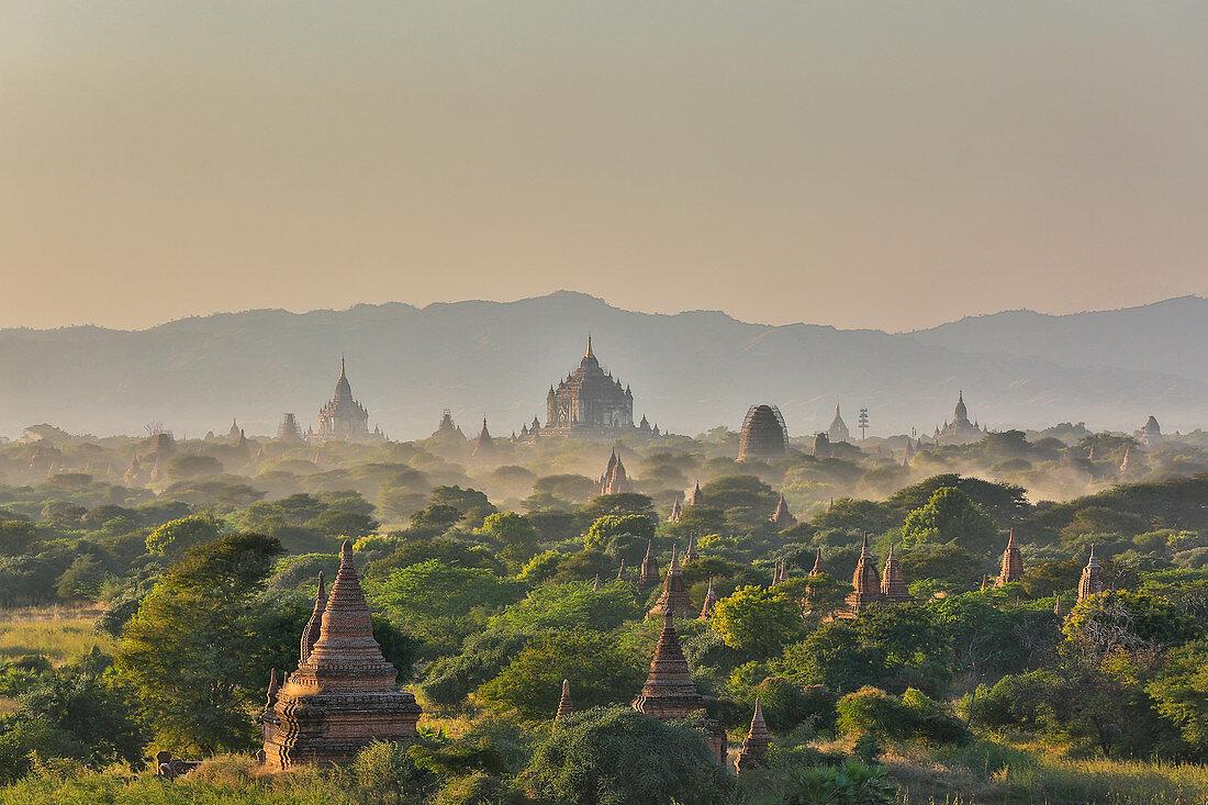 View of the pagodas of Bagan, Myanmar