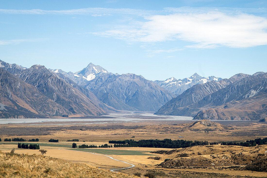 Mount Sunday liegt im Distrikt Canterbury auf der Südinsel in Neuseeland