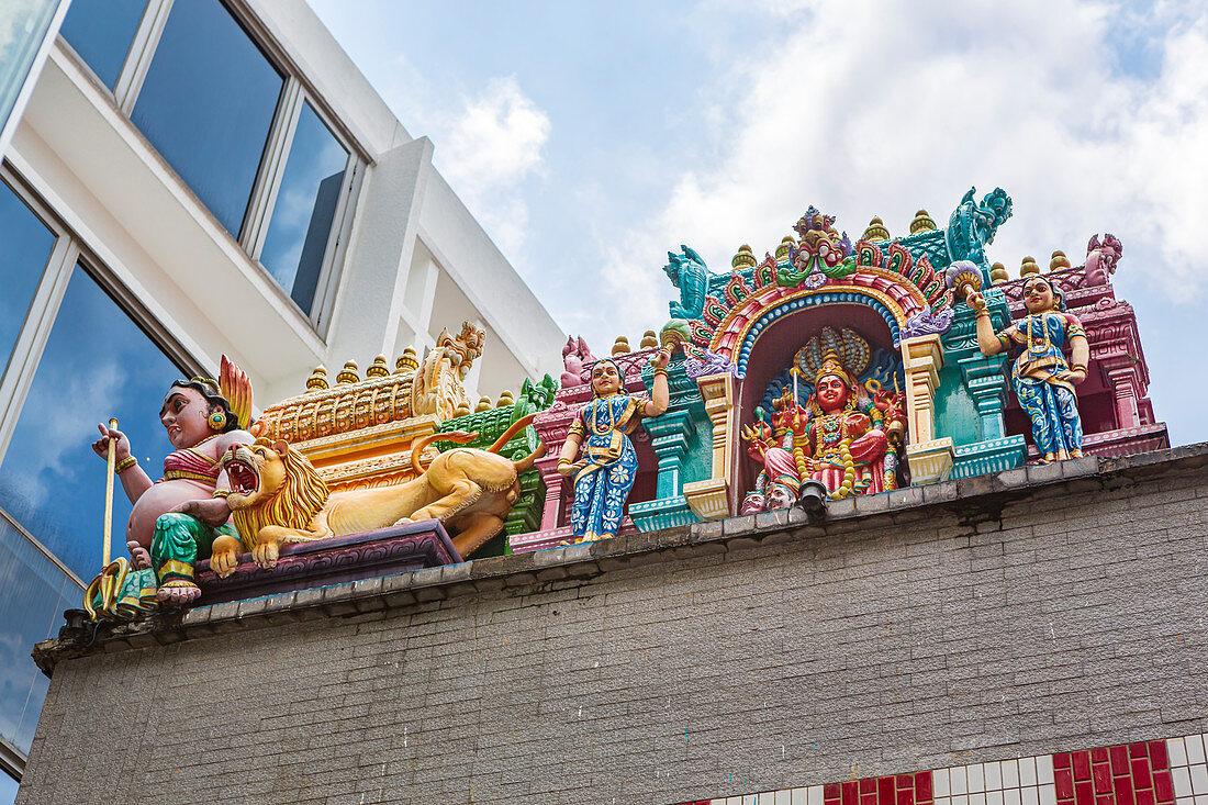 Sri Veeramakaliamman Temple in Little India, Singapur, Asien