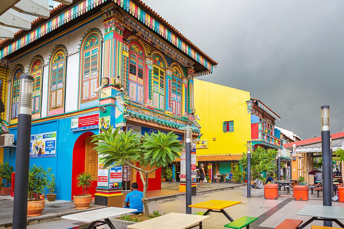 Marktstraße in Little India, Singapur, Asien