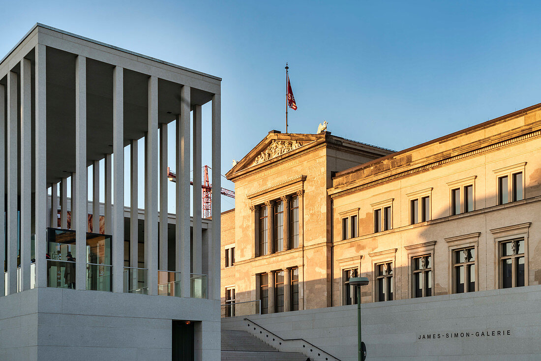 Pergamonmuseum, James Simon Galerie, neues Besucherzentrum am Kupfergraben,  Eingang zum Pergamonmuseum, Museumsinsel, Berlin