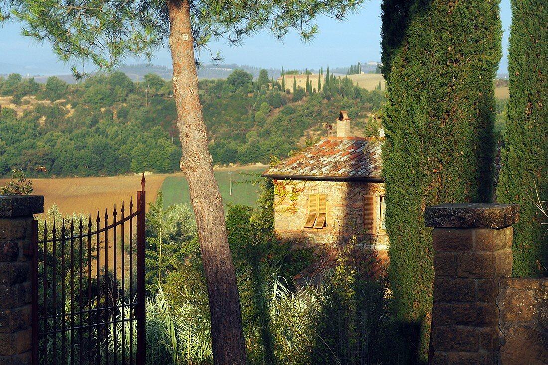 la Foca bei Monticchiello bei Pienza, Süd-Toskana, Toskana, Italien