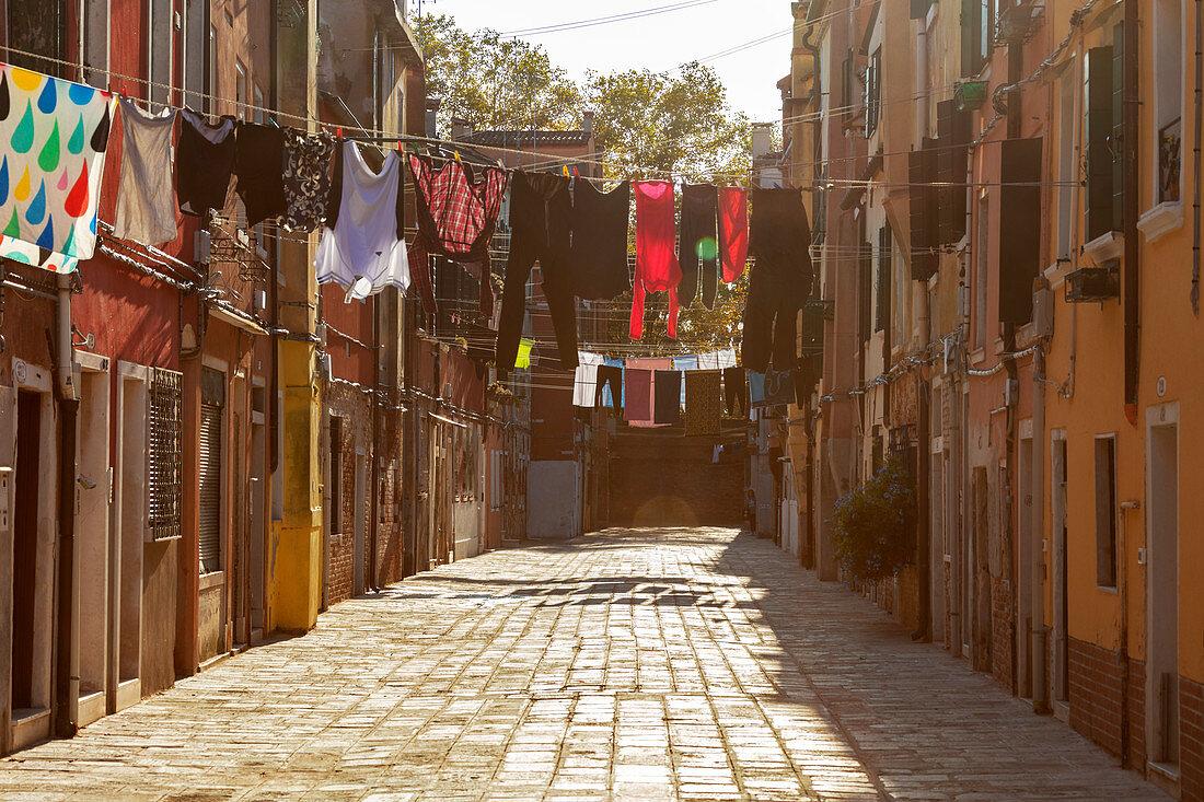 "Residential street near ""Campo Stingari"" in Venice, Veneto, Italy"
