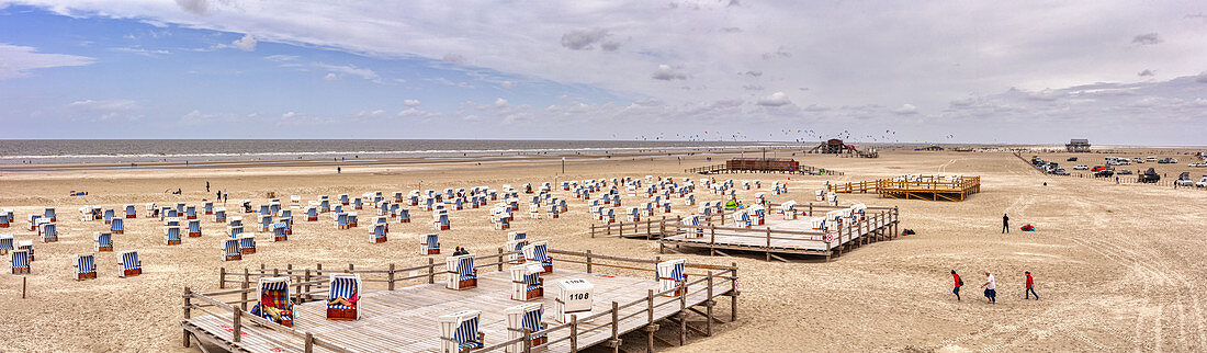 Beach, north beach, panorama, St. Peter-Ording, Schleswig-Holstein, Germany