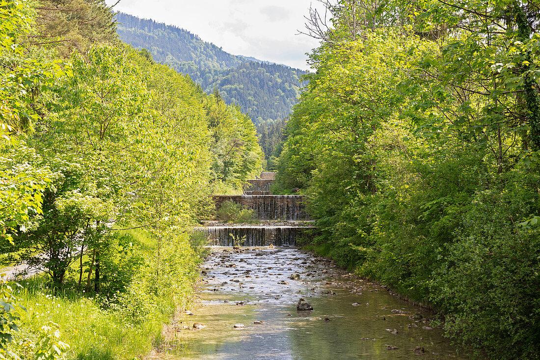 Waterfalls from Jenbach near Bad Feilnbach, Bavaria, Germany
