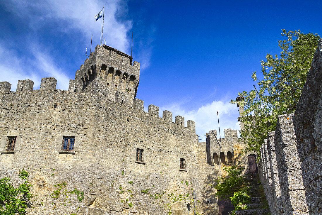 Fortress La Guaita, Monte Titano, Republic of San Marino, Italy, Europe