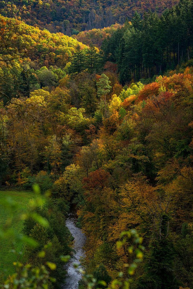 Autumn in the Eltztal, Rhineland-Palatinate, Germany, Europe