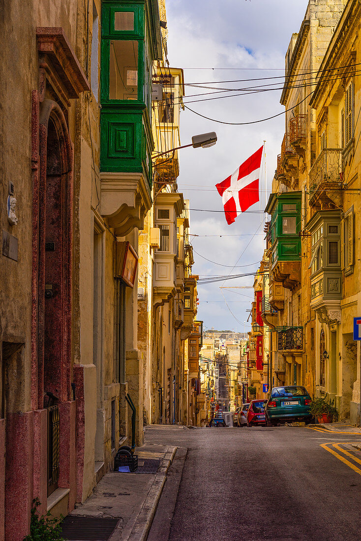 In the streets of Valletta, Malta, Europe