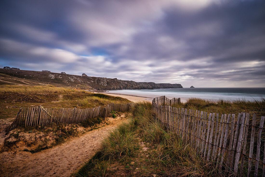 At the Plage de Trez Rouz near Camaret sur Mer, Finistere department, Brittany, France, Europe