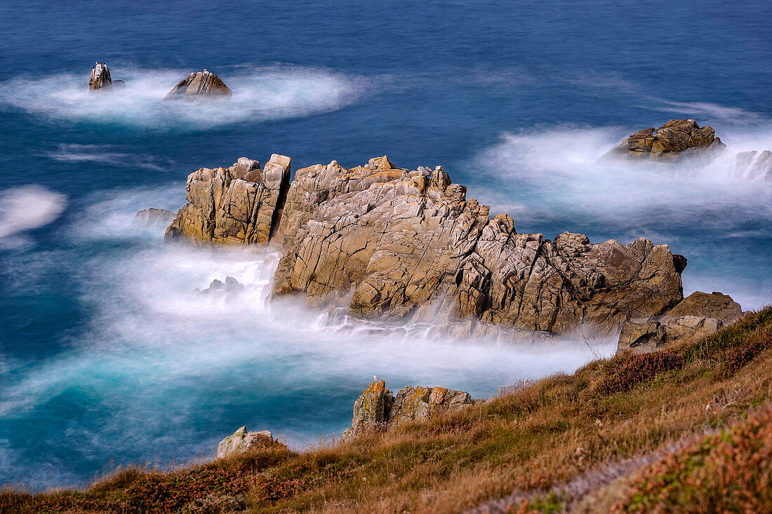 In September on the Breton coast, Cornouaille, Brittany, France, Europe