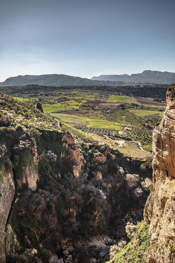 View of the El Tajo Gorge in Ronda, Spain