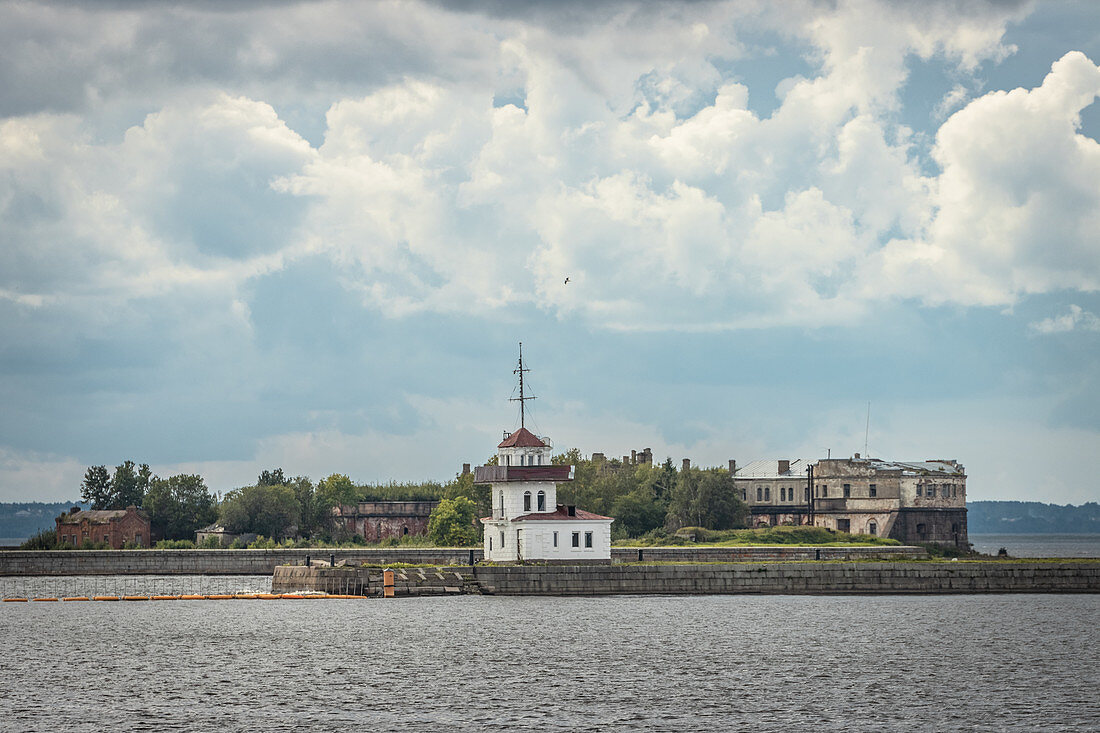 View of the old fort in Kronstadt, Russia