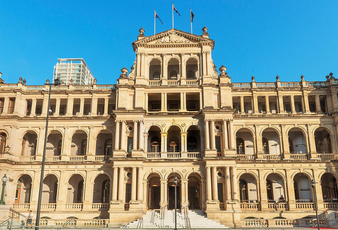 Treasury building, Brisbane Square, Brisbane, Queensland, Australia, Australasia