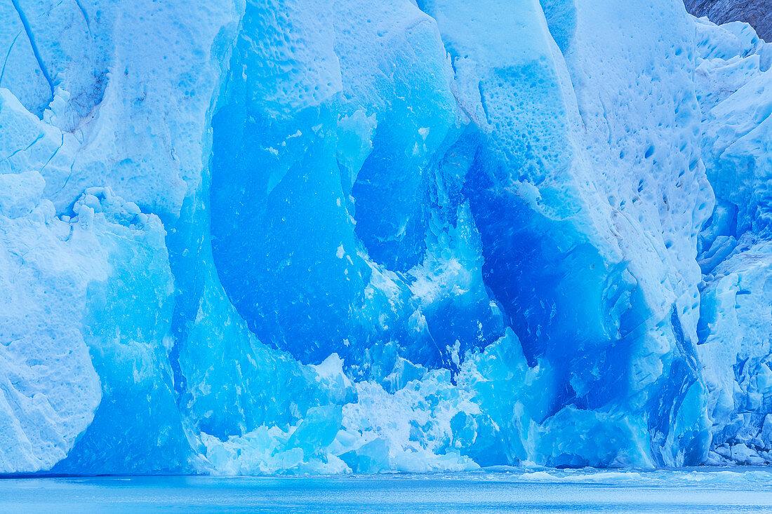 Grey glacier, close-up, Torres del Paine National Park, Chile, South America